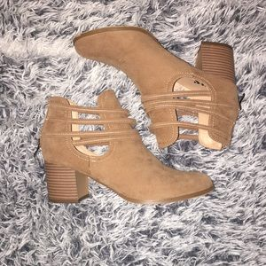 AMS Taupe Ankle Boots